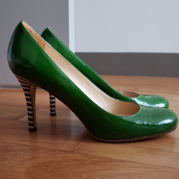 a84a7a63a96b kate spade Shoes - Kate Spade Karolina green w striped heels